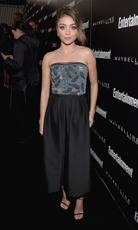 January 29: Sarah Hyland was all glam during the Entertainment Weekly and Maybelline New York SAG Award nominees party at Chateau Marmont in West Hollywood. 