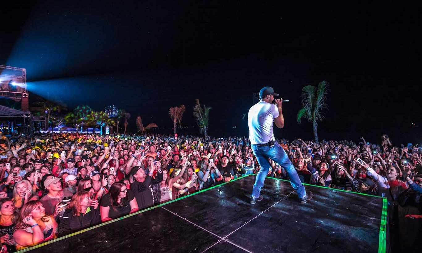"January 27: Luke Bryan wrapped his sold out ""Crash My Playa"" concert at Barcelo Beach Resort in Riviera Maya, Mexico. 
