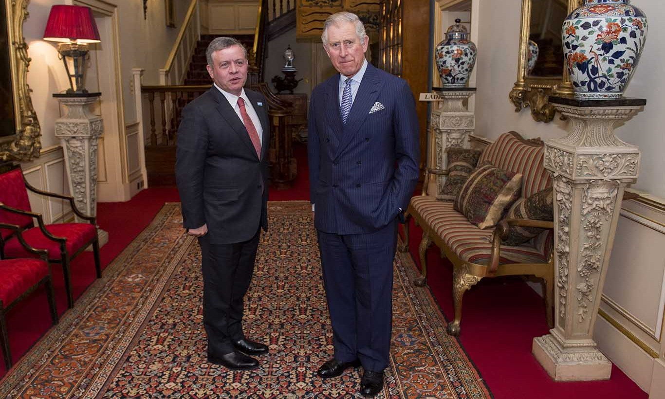 Back at Clarence House, the Prince held a meeting with King Abdullah II of Jordan. 