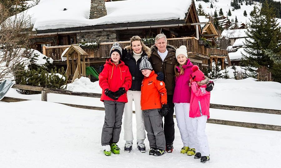 The Belgian Royal Family Spends Their Winter Vacation In