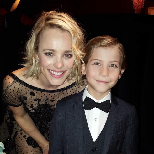 Watch out Noah Calhoun, Jacob is here to steal your woman! The 9-year-old met fellow Canadian and 'Notebook' star Rachel McAdams at the 2016 SAG Awards.