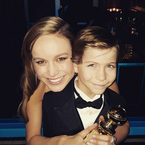 "The dynamic duo. Jacob cheered on his on-screen 'Room' mom Brie Larson at the 2016 Golden Globes. After the star took home the award for best actress he wrote, ""Congrats to the coolest girl in the world!!!!""