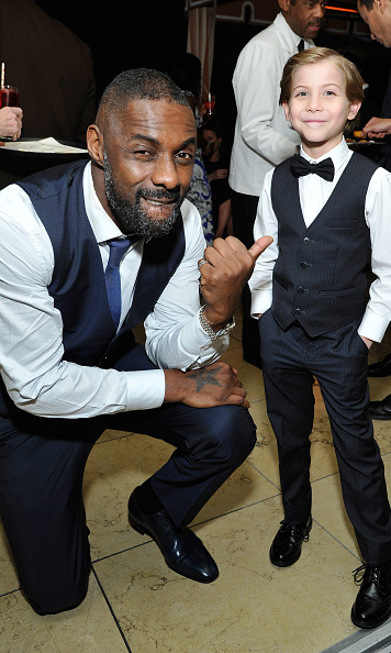 Twinning! The 'Room' actor presented Idris Elba with his outstanding performance by a male actor in a miniseries or TV movie for 'Luther' at the 2016 SAG Awards.