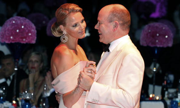 <B>PRINCESS CHARLENE AND PRINCE ALBERT OF MONACO</B>