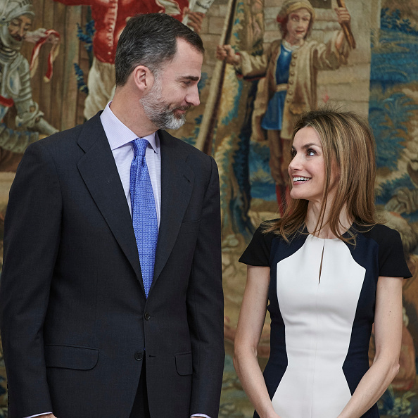 <B>QUEEN LETIZIA AND KING FELIPE OF SPAIN </B>