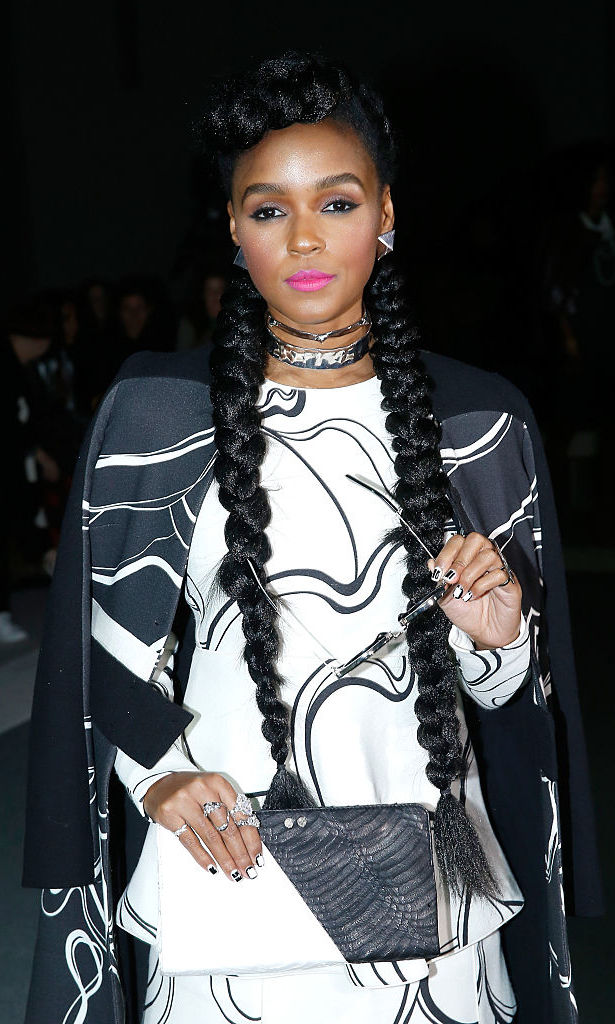 Janelle Monáe's braids were haute last fall at the Giambattista Valli fashion show during Paris Haute Couture week.