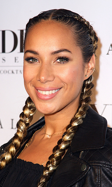 Following Kim's lead, Leona Lewis pulled her hair back into two french pigtails in December of 2015.