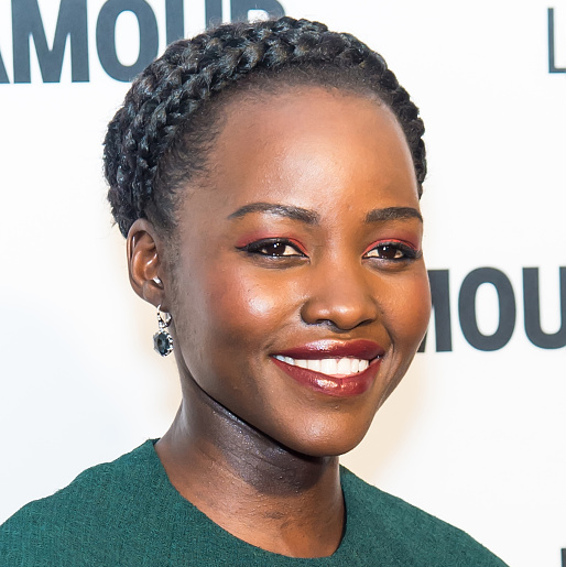 Lupita Nyong'o stunned with a braided crown 'do at Glamour's 25th Anniversary Women Of The Year Awards in 2015.