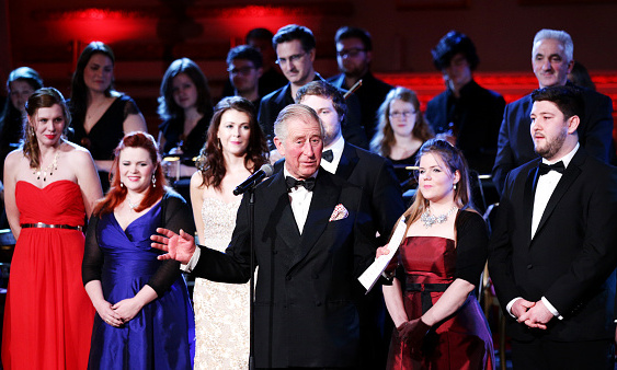 Prince Charles turned on the charm as he addressed guests at a gala concert for the Royal Welsh College of Music and Drama at Buckingham Palace. 