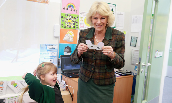 Camilla, Duchess of Cornwall made a new friend as she visited Forest and Sandridge Church of England Primary School n Melksham, England. 