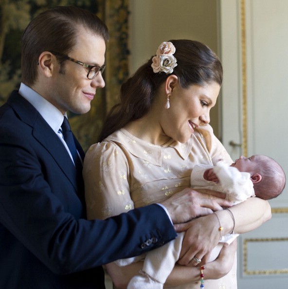 March 2012: New parents Crown Princess Victoria and Prince Daniel were totally starry-eyed over their sweet 3-week old daughter. 