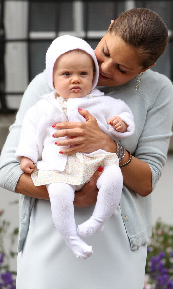 July 2012: Estelle spent some quality photo time with mom Crown Princess Victoria during the first-in-line's 35th birthday celebration. 