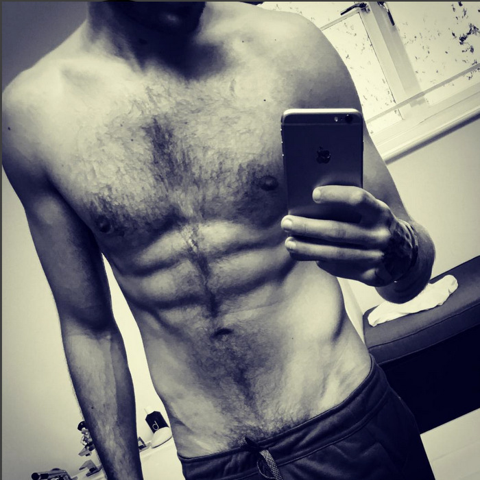 One Direction's Liam Payne posted the fruits of his labor on Instagram after working out.