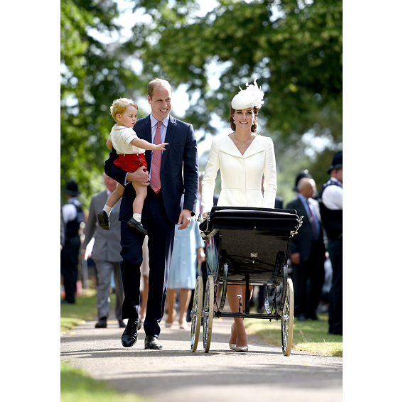 July 2015: A family of four! We got a first glimpse of the Cambridges as a quartet when Prince William, Kate Middleton, Prince Geroge and Princess Charlotte took a stroll on the day of the little Princess' christening. 