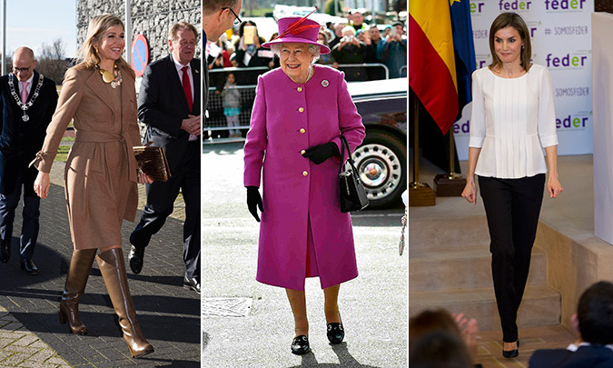 From Queen Elizabeth's all purple outfit to Queen Letizia's chic monochrome ensemble, see all the best royal looks of the week.