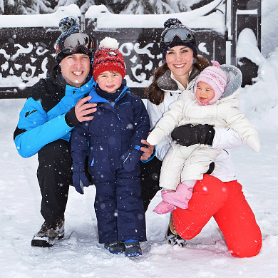 "Prince William and his son look uncannily alike as they pose for this sweet photo taken during their <a href=""http://us.hellomagazine.com/royalty/12016030712445/prince-william-kate-middleton-george-charlotte-snow-vacation/""><strong>skiing vacation</strong></a> earlier this March.