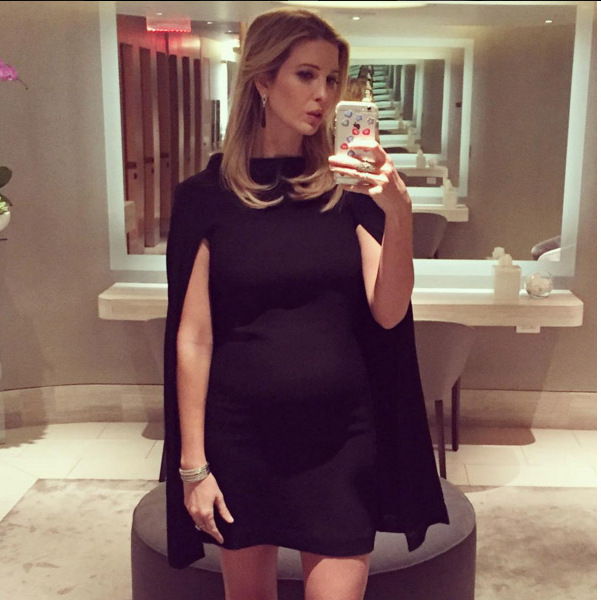 Plus one fashion! Ivanka is on trend in this figure-hugging LBD. 