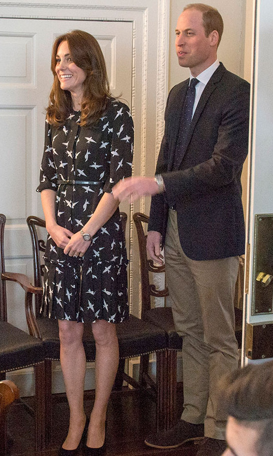The Duchess showed you don't need a lavish budget to look stylish when she stepped out wearing an $86 department store dress. Carrying out an official engagement in London, the royal wore print dress bought from British department store Debenhams. The chic piece comes from designer Jonathan Saunders' EDITION collaboration with the department store.