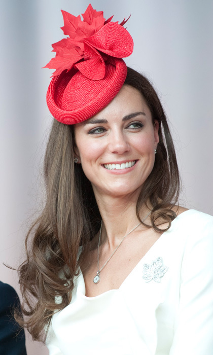 The Duchess delighted her fans when she attended Canada Day celebrations on Parliament Hill wearing a custom-made, maple-leaf fascinator.