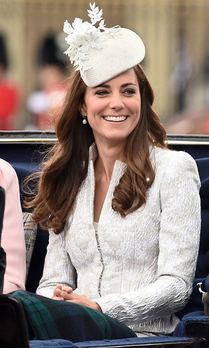 It was all eyes on Kate as she attended Trooping the Colour in 2014 wearing an Alexander McQueen suit and a matching hat by Jane Taylor.
