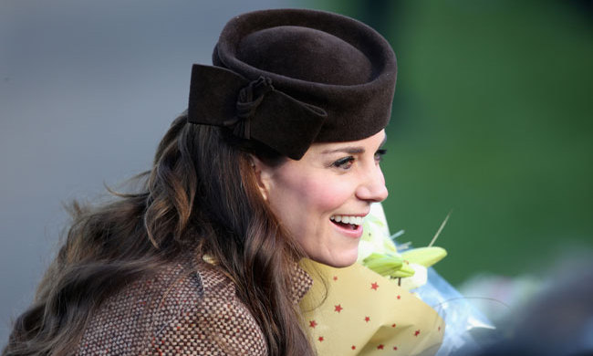 The mother-of-two wore a chic, pillbox hat for the Christmas Day services at Sandringham Church.