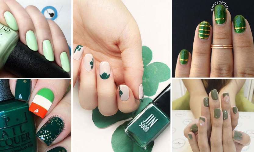 St. Patrick's Day is here, so let the festivities begin! If you want to literally show your Irish pride, try your hand at a bit of nail art. Whether you go the nail salon or do it yourself, here's some #nailspo. 