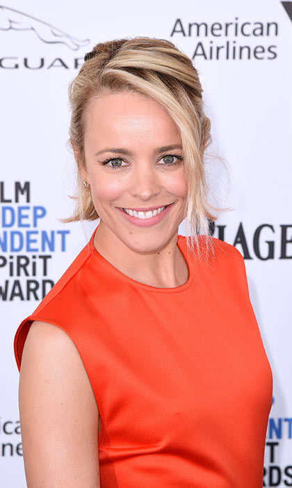 Rachel McAdams proves that a bob is actually quite versatile. Switch it up with a half-up, half-down look.