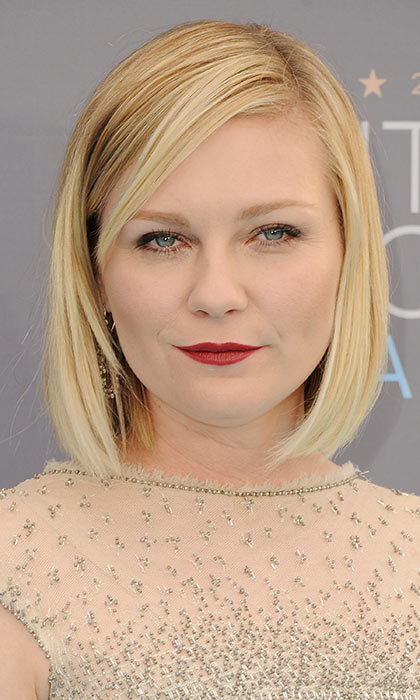 We loved Kirsten Dunst's bold lip and bob look that she rocked at the 2016 Critics' Choice Awards.