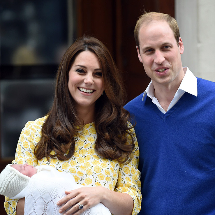 So proud to be a new mom again, Kate and William showed off Princess Charlotte less than two years later. 