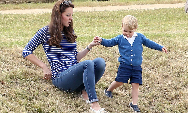 Whee! Kate's prepared to get hands-on with curious George as he explored the outdoors. 