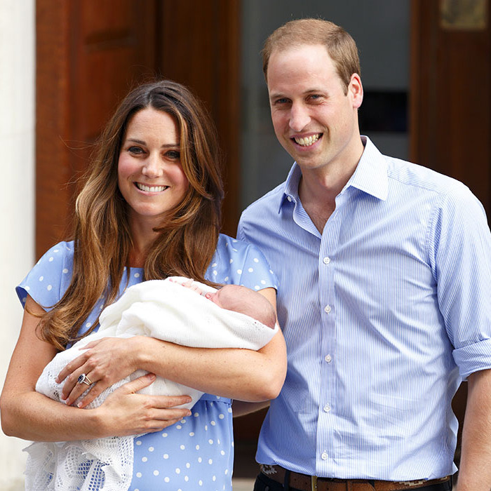 Kate couldn't wait to introduce her and William's first-born, Prince George, to the world after giving birth in 2013. 