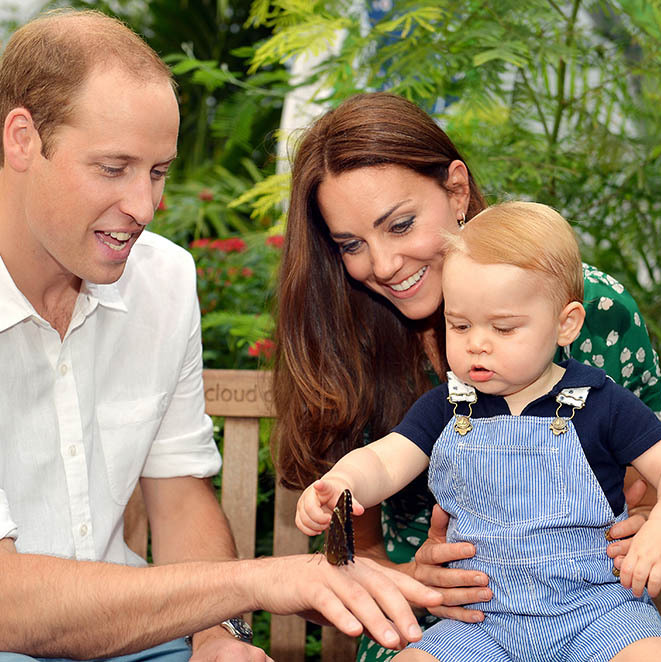 The Duchess looked proud of her inquisitive little boy on his first birthday.