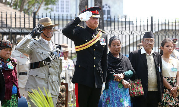 "Prince Harry placed a wreath during a remembrance service at the British Gurkha Camp in Pokora. The card read: ""With the deepest admiration, respect and gratitude. Your sacrifice will never be forgotten. Hardick Sradhanjali (Heartfelt condolences).""