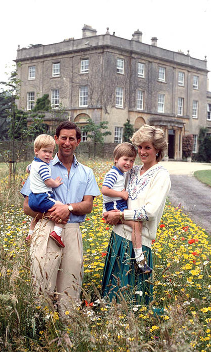 Friends since the start! Prince William and Prince Harry were all smiles in a photo with their parents Prince Charles and Princess Diana. 