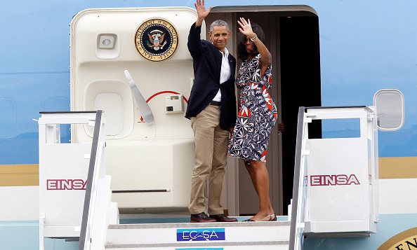March 22: President Obama and Michelle Obama waved goodbye to Cuba as they boarded the Air Force One en route to Argentina. 