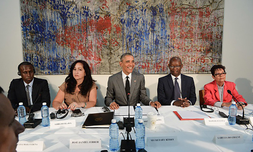 March 22: President Obama took part in the Civil Society Roundtable in Havana, Cuba. 