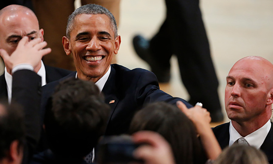 March 23: President Obama greeted guests during the meeting of young entrepreneurs at Usina del Arte in Buenos Aires, Argentina.