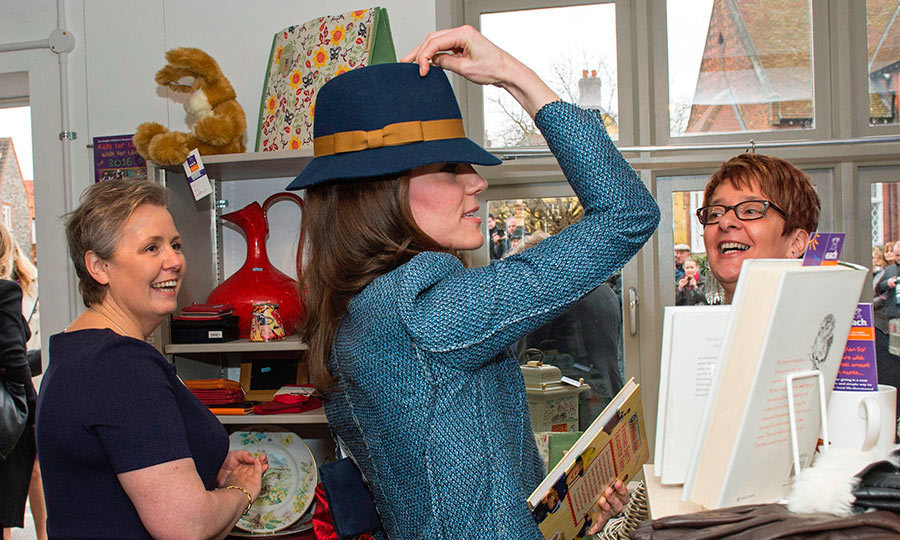 As patron of the East Anglia's Children's Hospice, the Duchess of Cambridge had the honor of opening up a thrift shop to raise money for the cause. During the engagement Kate picked up some pieces for the family including a book for her son Prince George.
