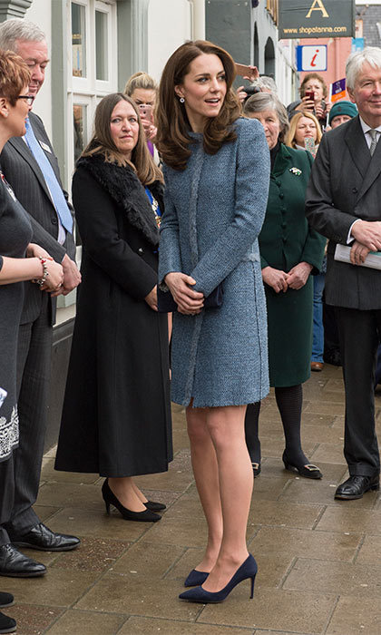 The Duchess of Cambridge opted for one of her favorite coats by M Missoni to open a new charity shop in Norfolk, England.