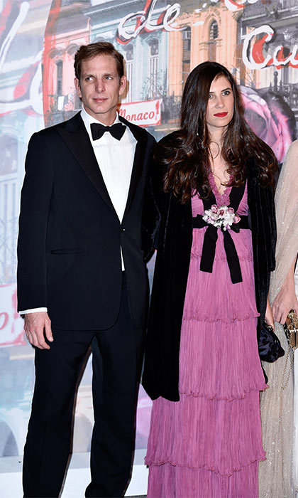 Andrea Casiraghi's wife Tatiana Santo Domingo wowed in an stunning Gucci gown at the Rose Ball.