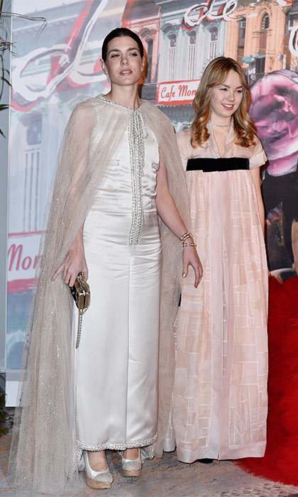 Chanel was the fashion house of choice for Monaco royal Charlotte Casiraghi and her sister Princess Alexandra at the Rose Ball.
