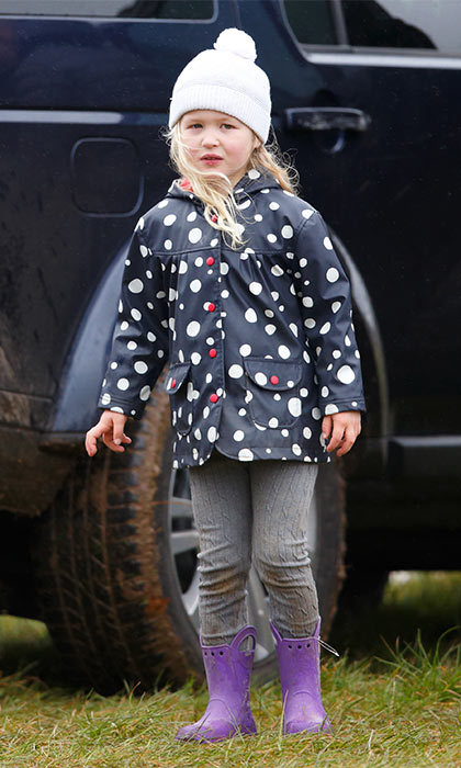 Savannah Phillips was the cutest attendee at the Gatcombe Horse Trials, as she cheered on her aunt Zara Phillips. 