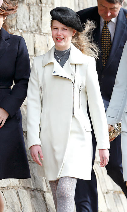 Très chic! Lady Louise channeled her inner Parisian when she wore a black beret to attend the Easter Sunday service at Windsor Castle.