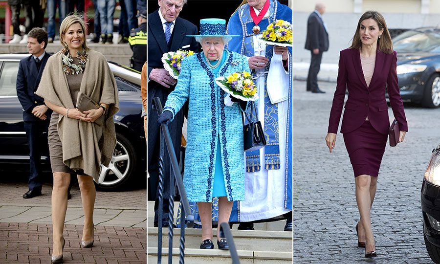 From Queen Elizabeth's vibrant blue coat to Queen Letizia's favorite Hugo Boss suit, check out the outfits your favorite royals have been rocking recently.
