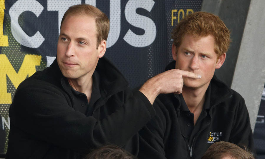 Silent treatment! William has some fun with Harry before the start of the Invictus Games in London. 