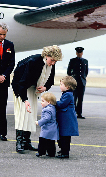 Mother's boys! William and Harry shared a special moment with mom Diana during a trip to Scotland. 