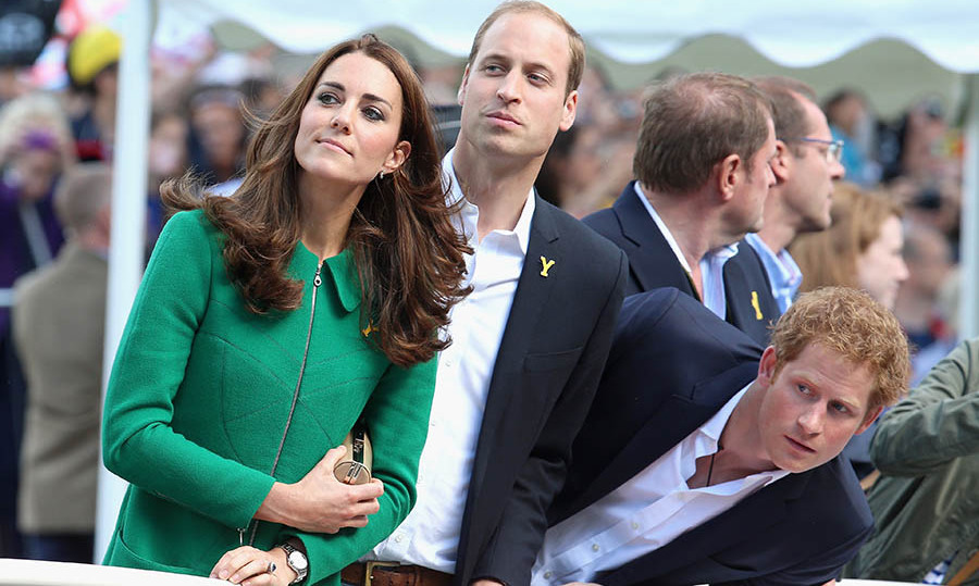 Kate, William, and an eager Harry looked on during Stage 1 of the Tour De France in Harrogate.