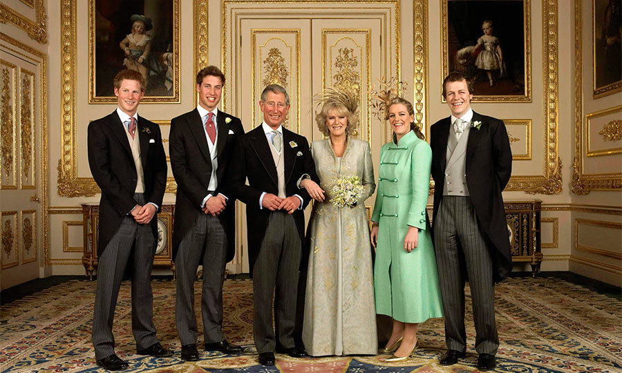 Prince Charles' son the Duke of Cambridge and Camilla's son Tom Parker-Bowles served as the couple's witnesses.