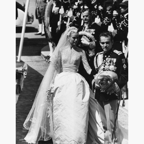 "This is the dress that inspired <a href=""http://us.hellomagazine.com/weddings/1201509177914/nicky-hilton-grace-kelly-inspiration-for-valentino-wedding-dress/""><strong>Nicky Hilton</strong></a> on her own wedding day. With a high neckline and long sleeves, it was instantly a hit. It also featured a fitted bodice and voluminous skirt. 
