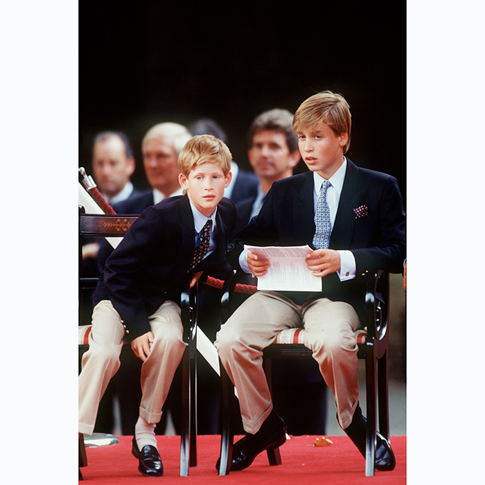 There's obviously nothing more brotherly than dressing alike! Both opted for loafers and khakis at the 1995 VJ Day Parade. 